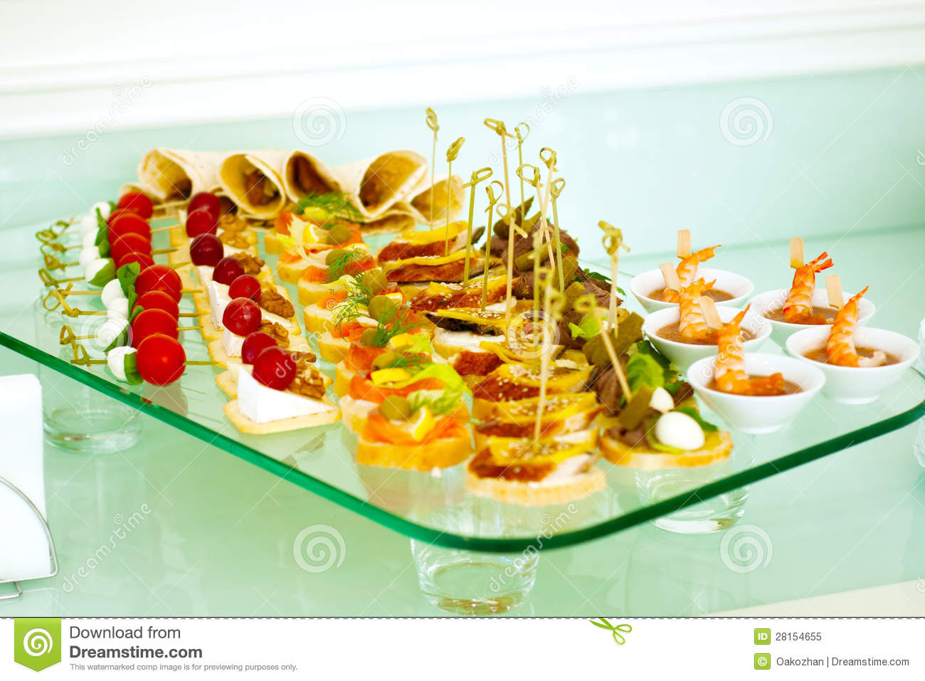 Catering Buffet Style With Different Light Snack Royalty