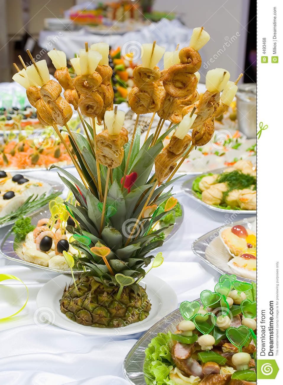 Ananas Buffet catering buffet style - pineapple stock photo - image of delicious
