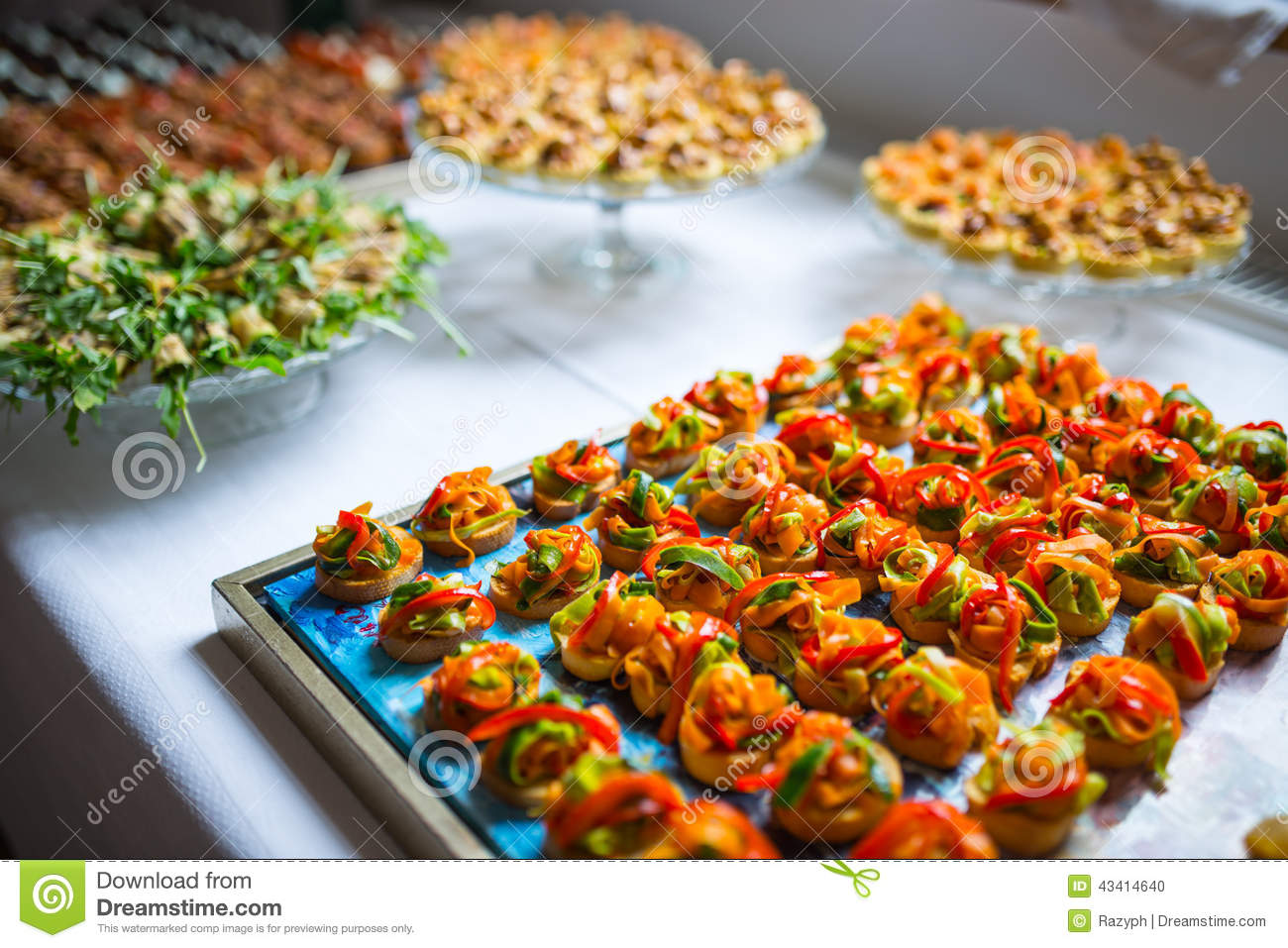 Catering canape tray stock photo image 43414640 for Canape platters