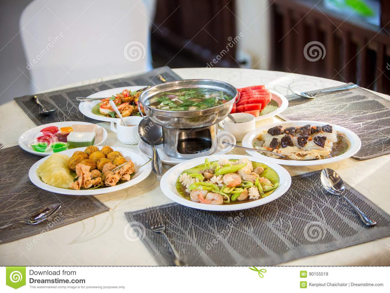 Catering cuisine dinner food wedding set