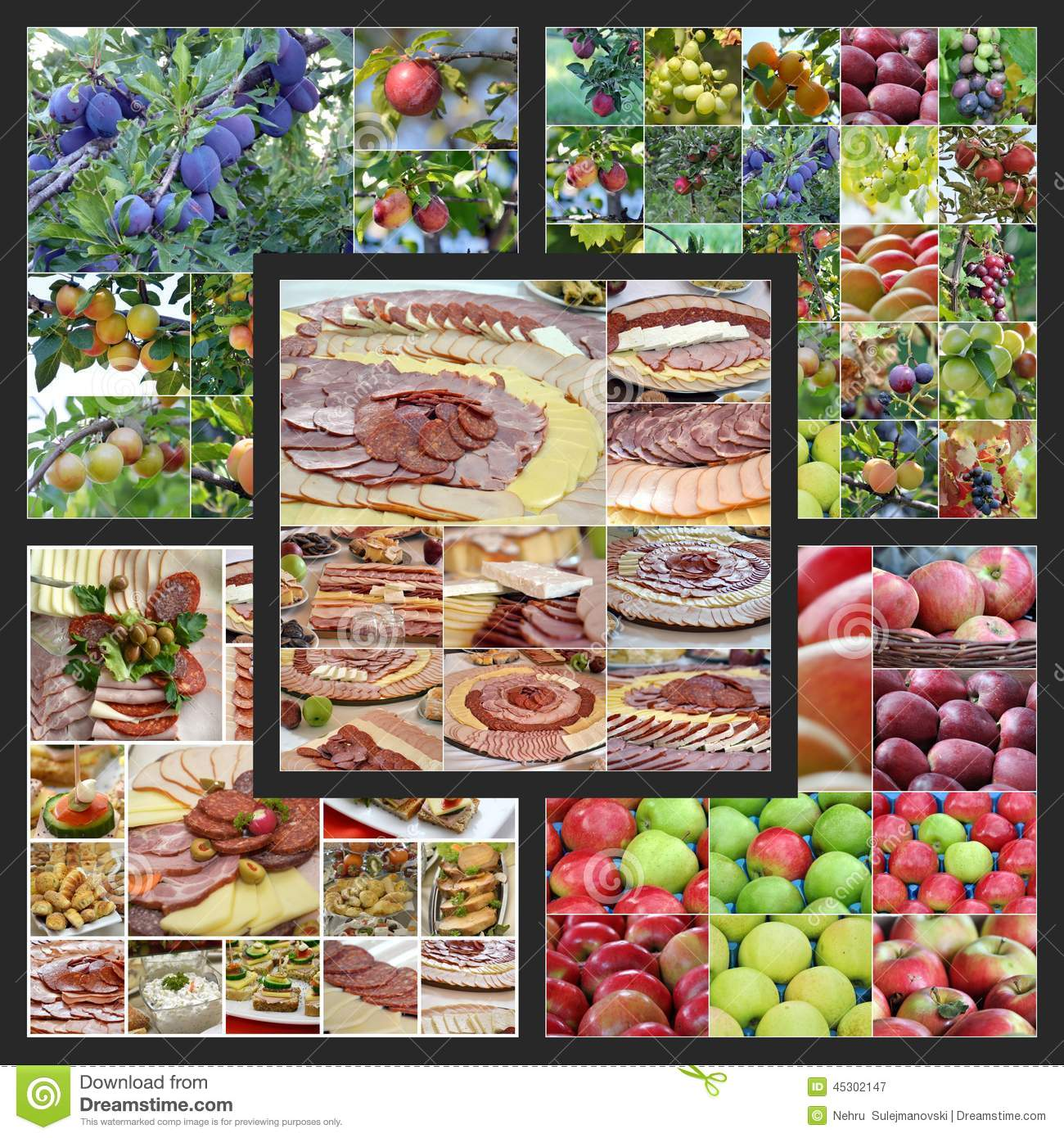 Download Catering food and fruits stock image. Image of food, appetite - 45302147