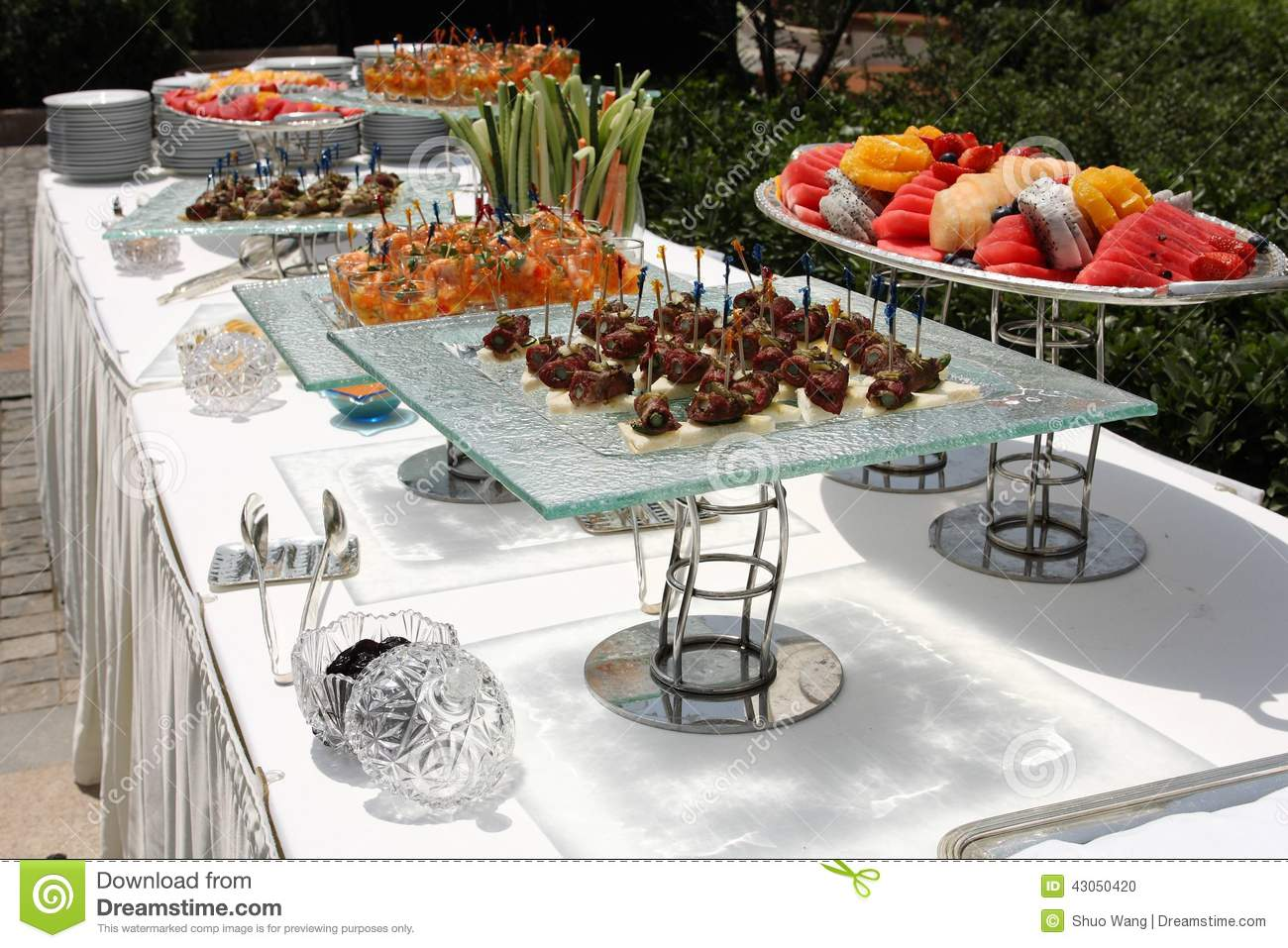 Catering royalty free stock photo for Meal outdoors