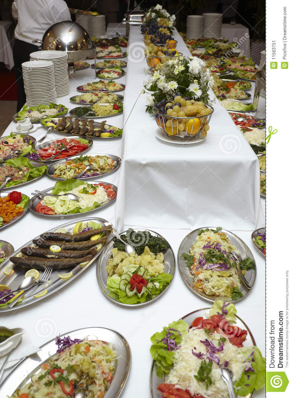 Catering food restaurant cuisine stock image image 11563751 for Ajays catering cuisine