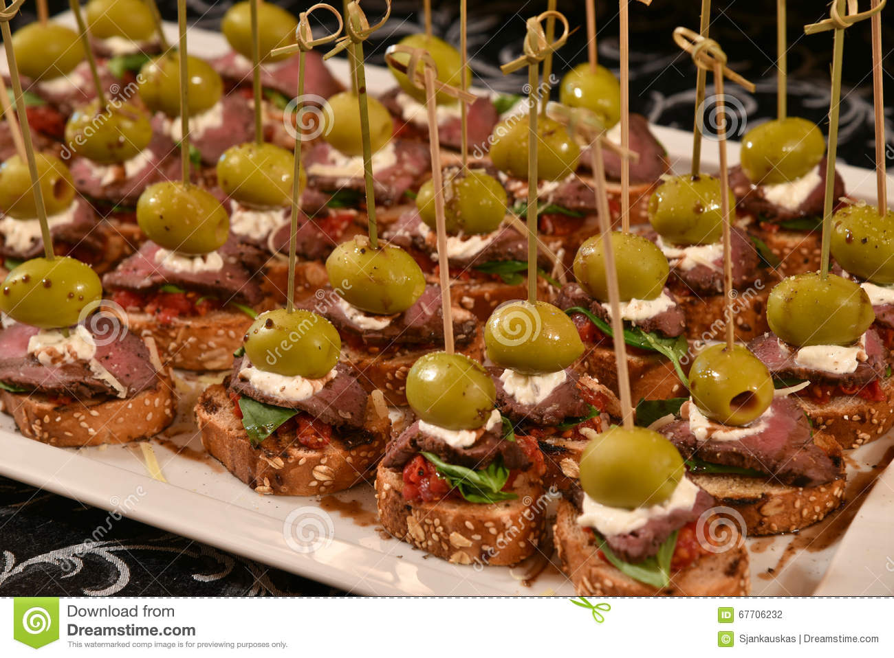 Catering Party Food Stock Photo Image