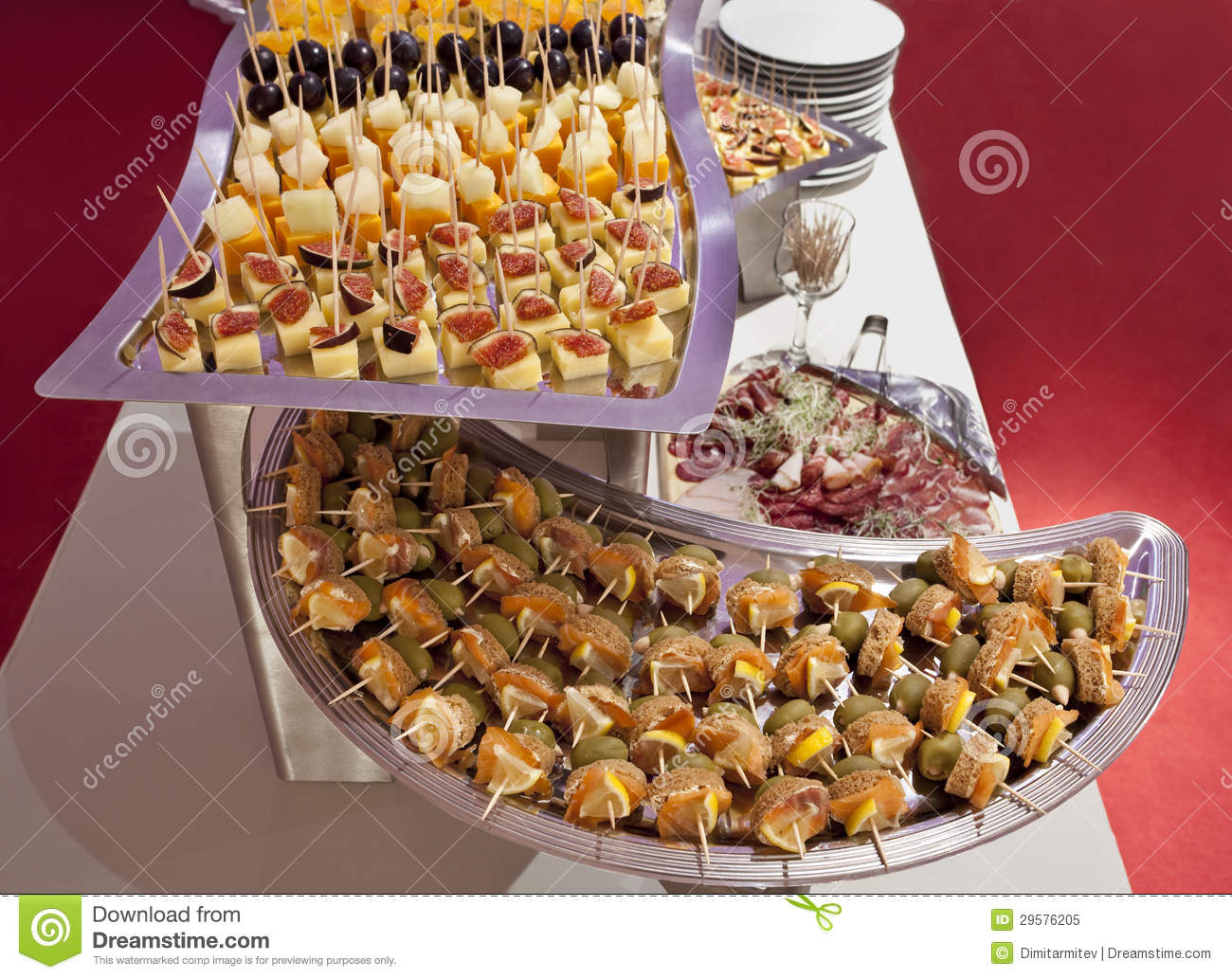 Catering Platters Stock Image Image Of Appetizer Fresh 29576205