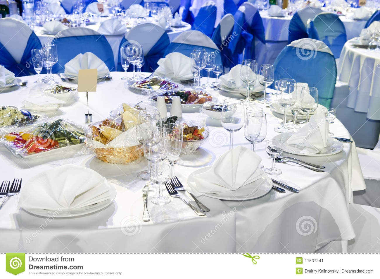 Catering Service Table Decoration Stock Image Image