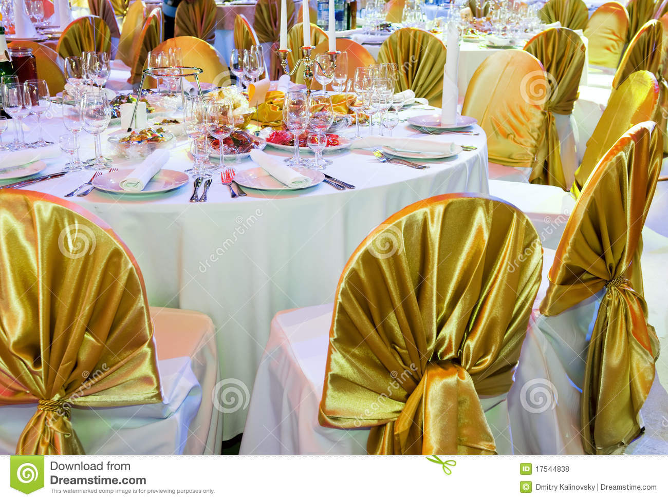 Catering service table decoration stock photo image for Decoration images