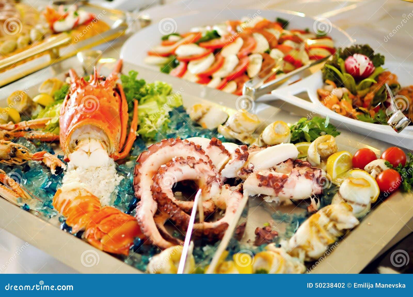 Cateringu jedzenie, denny jedzenie, zakończenie up