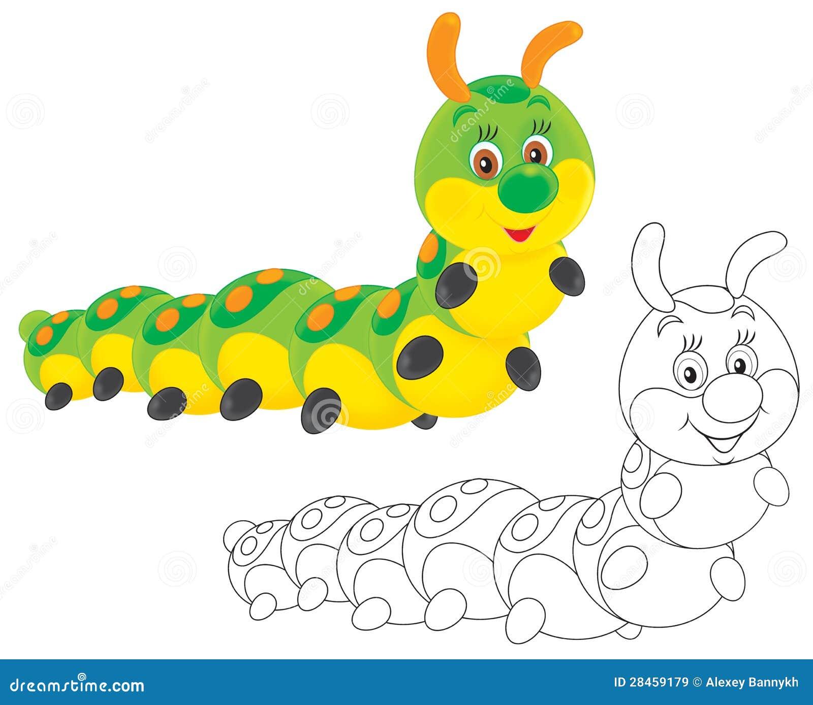 Caterpillar stock illustration. Illustration of cartoon ... Гусеница Вектор