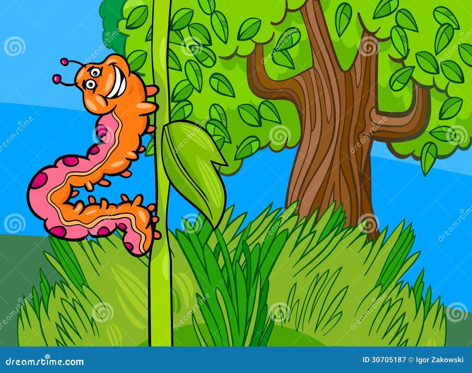 Caterpillar Insect Cartoon Illustration Royalty Free Stock