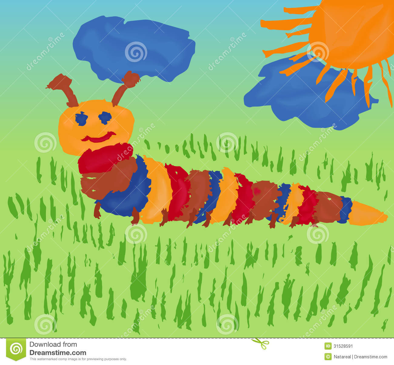 royalty free stock photo - Children Drawing Pictures For Painting