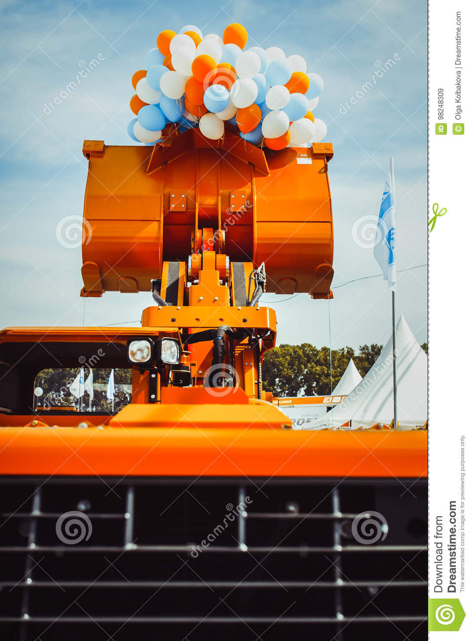 Caterpillar Tractor At The Exhibition Stock Image - Image of