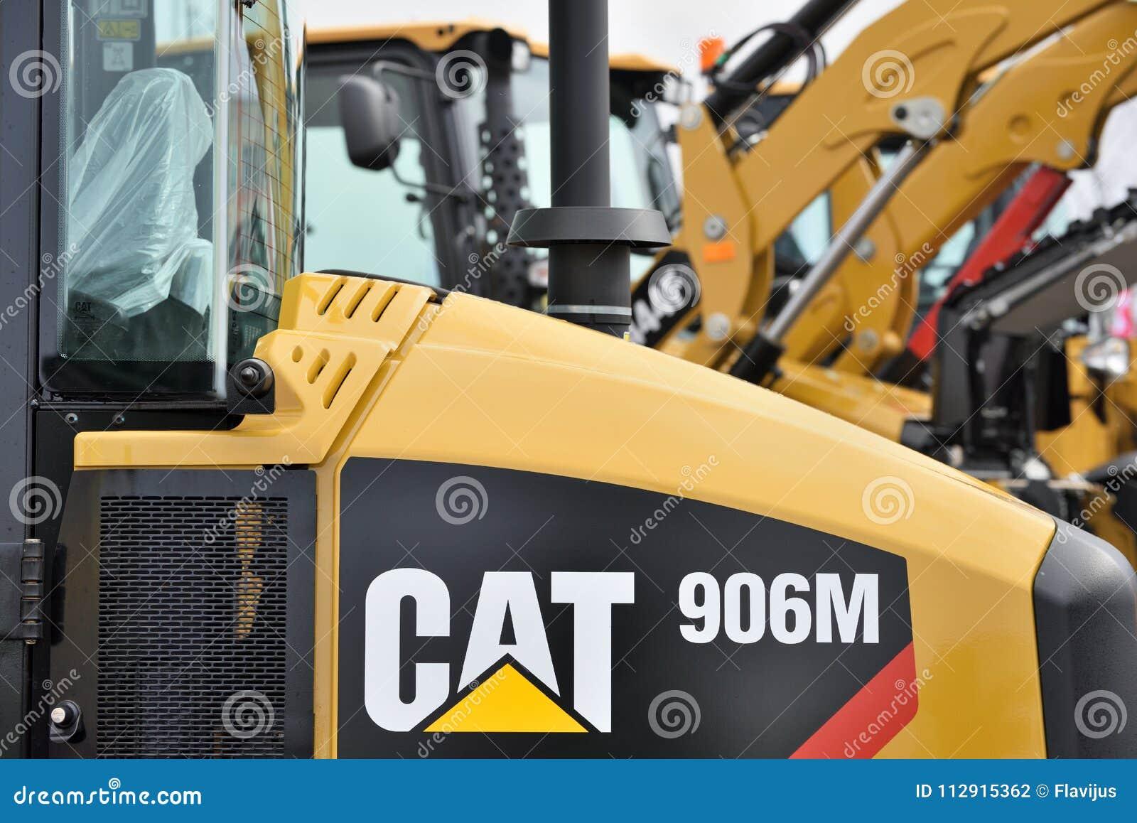 Caterpillar tungt utrustningmedel och logo