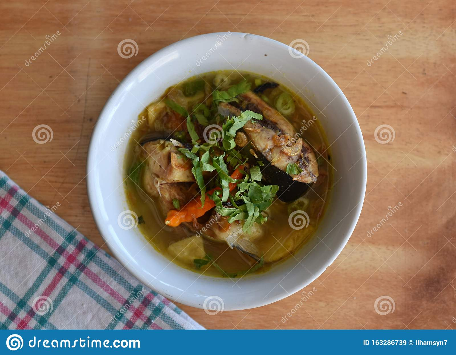 Catfish Soup Or Sup Ikan Patin Is Indonesian Traditional Food Stock Image Image Of Health Diet 163286739