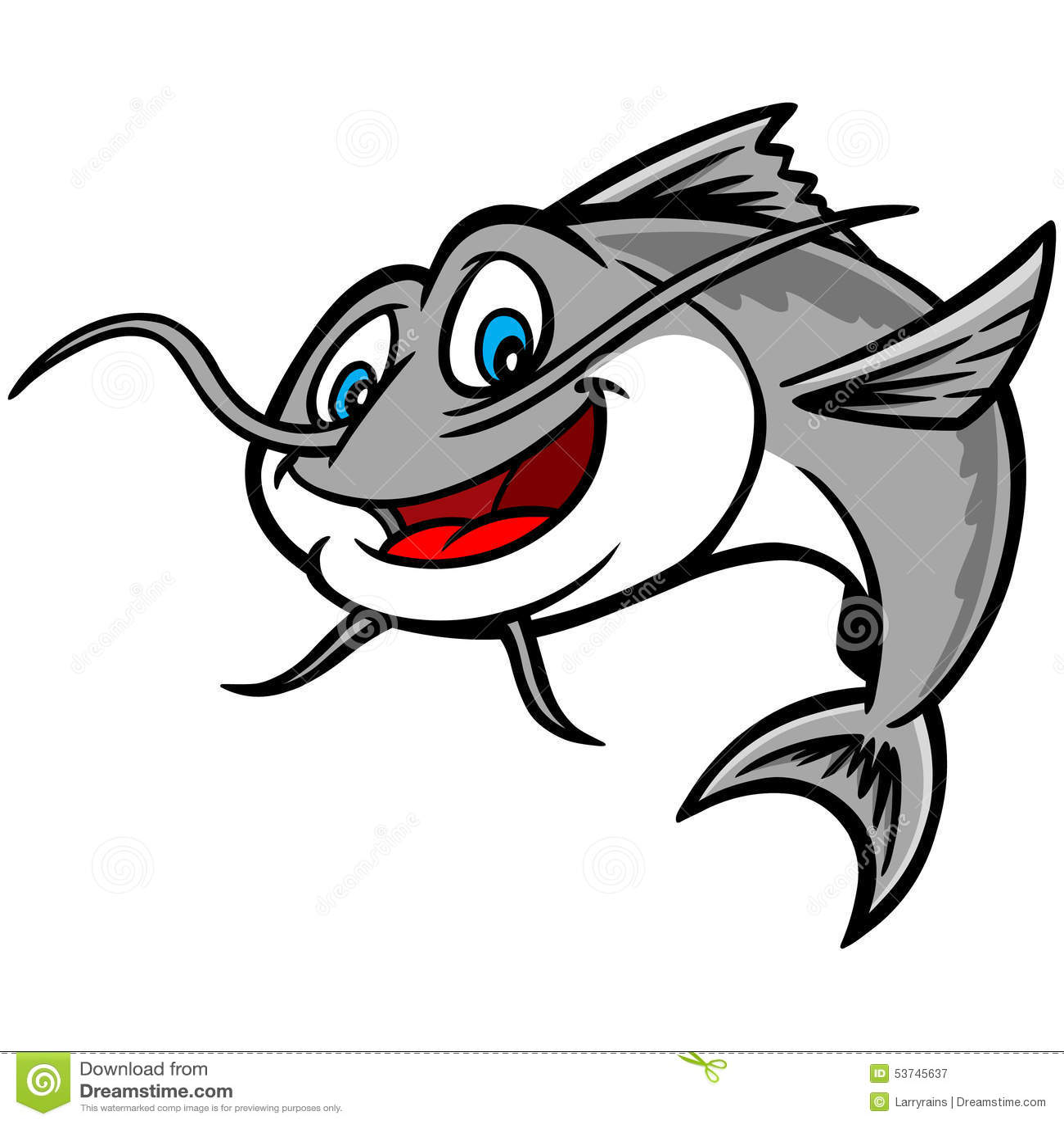 catfish stock vector image of catfish  fish  restaurant 53745637 Northern Fish Clip Art freshwater fish clip art free