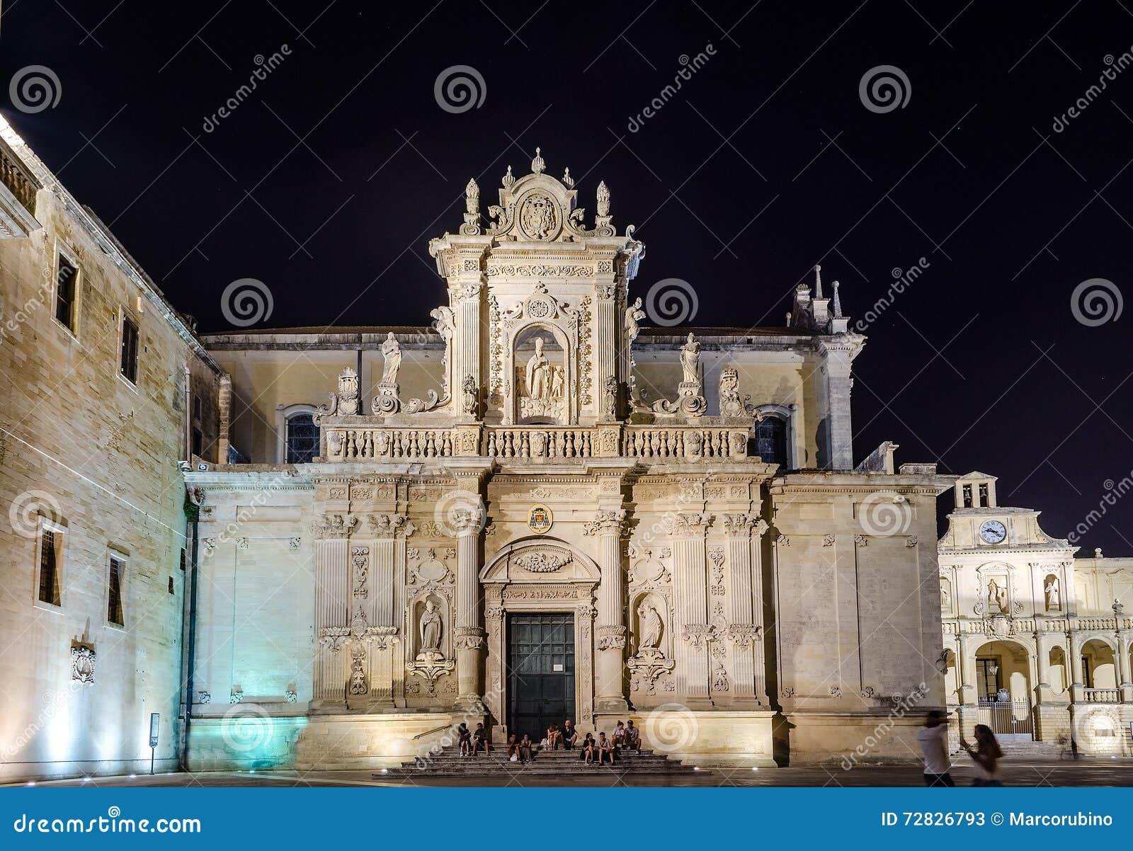 Cath drale de lecce chef d 39 oeuvre d 39 art baroque dans salento italie image stock image du - Chef d oeuvre ...