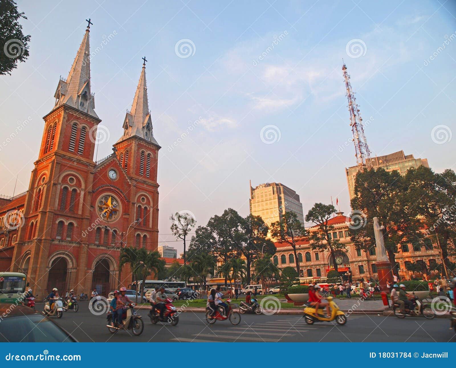 Cathédrale de Notre Dame, Ho Chi Minh Ville, Vietnam.