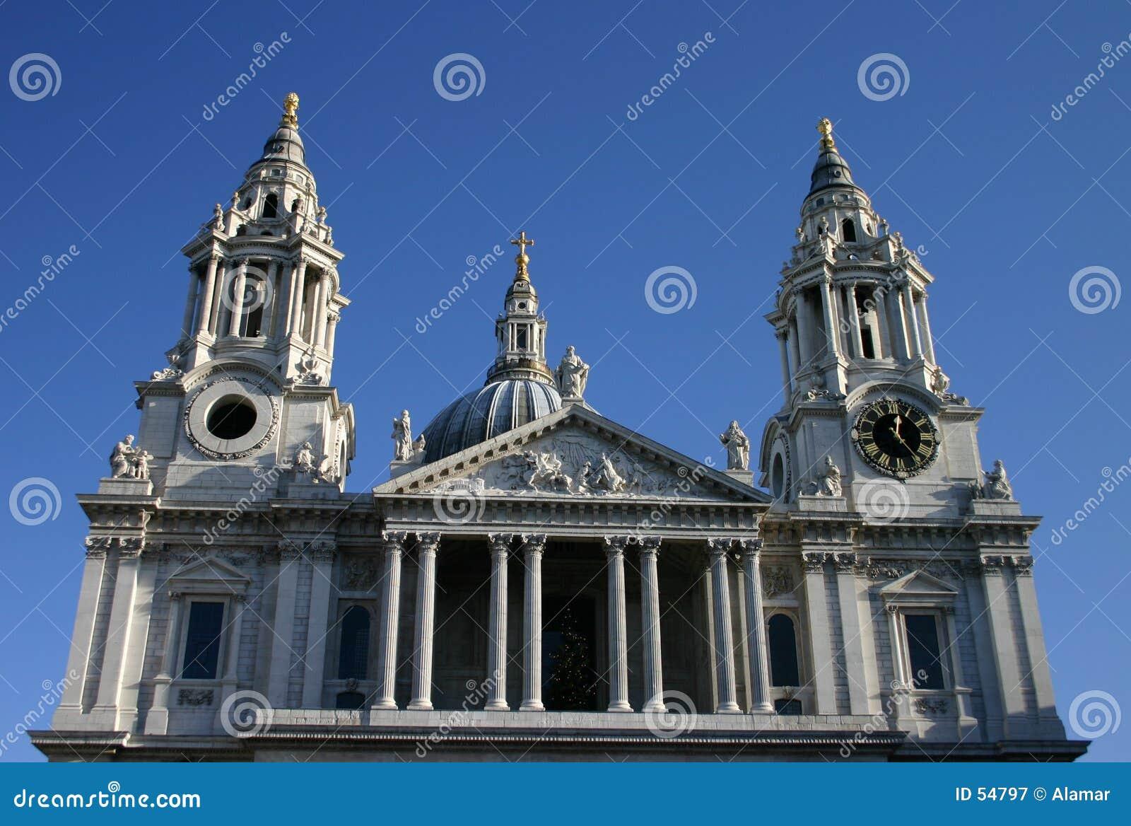 Download Cathédrale de rue Pauls image stock. Image du tourisme, ciel - 54797