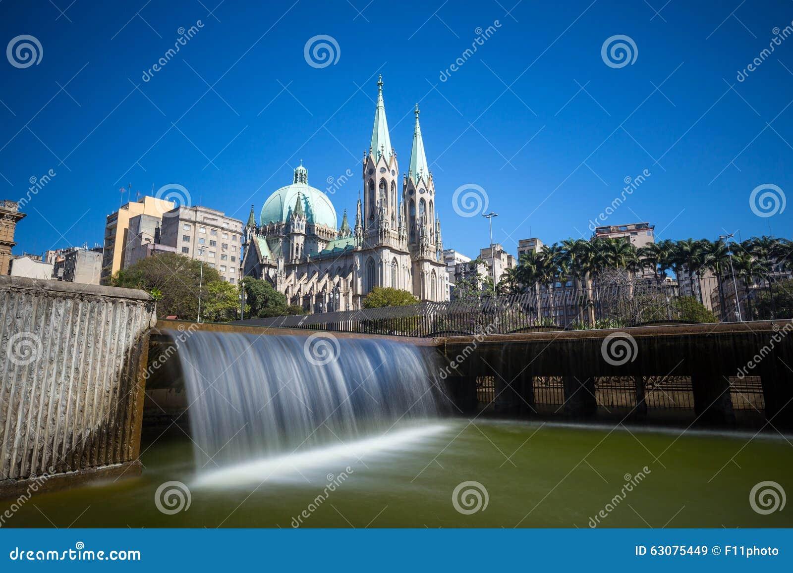 Download Cathédrale De Se à Sao Paulo Du Centre Image stock - Image du saint, brazil: 63075449