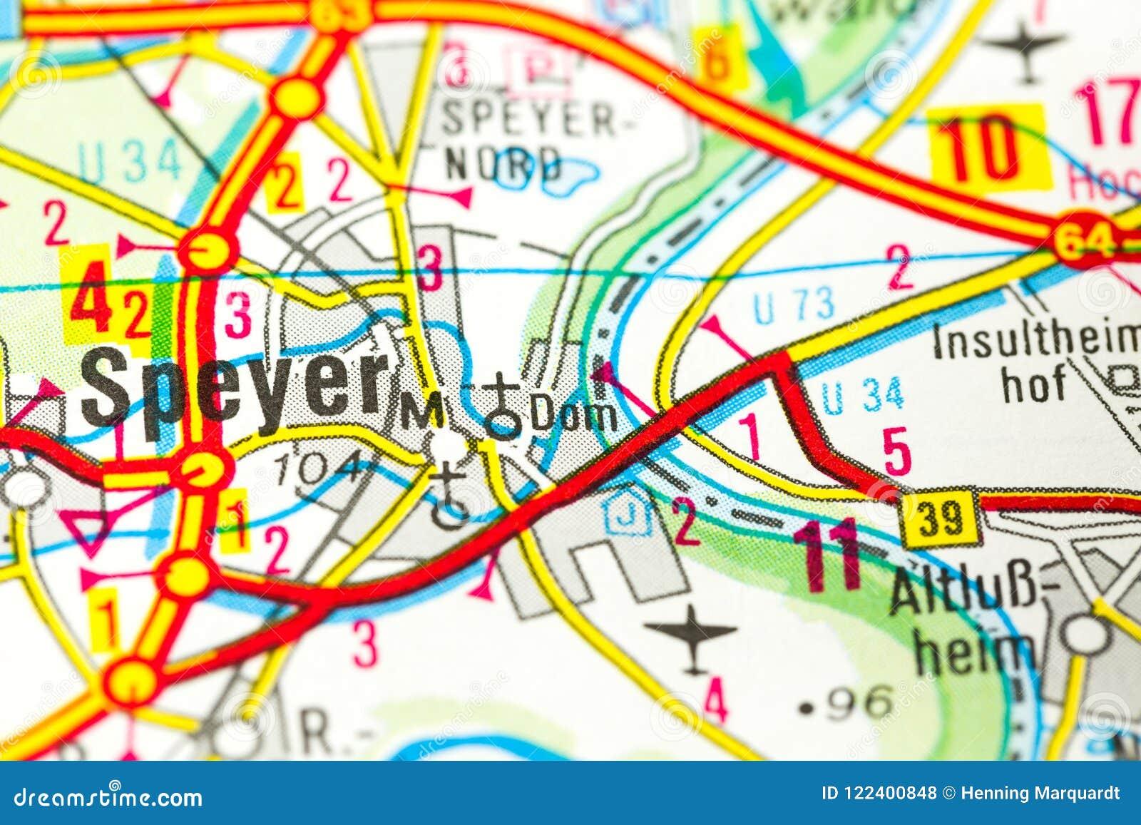 Cathédrale de Speyer sur la carte, Speyer, Rhénanie-Palatinat