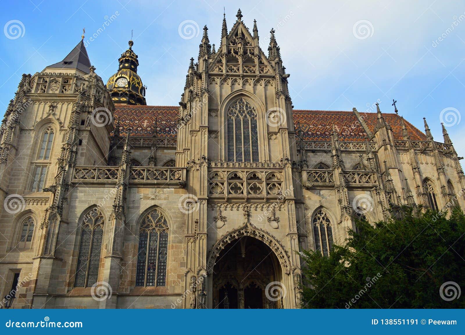 Cathédrale de St Elisabeth ou ¾ Kosice bety Slovaquie d AlÅ de svätej du ³ m de DÃ
