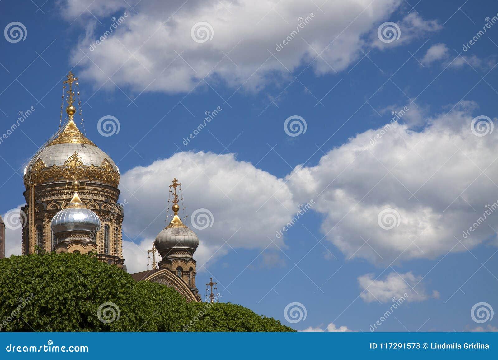 Cathédrale orthodoxe à St Petersburg