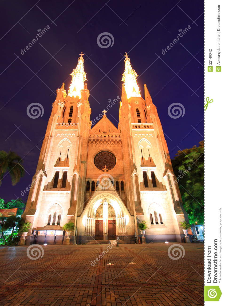 Cathedral in Jakarta Indonesia a landmark buildings.