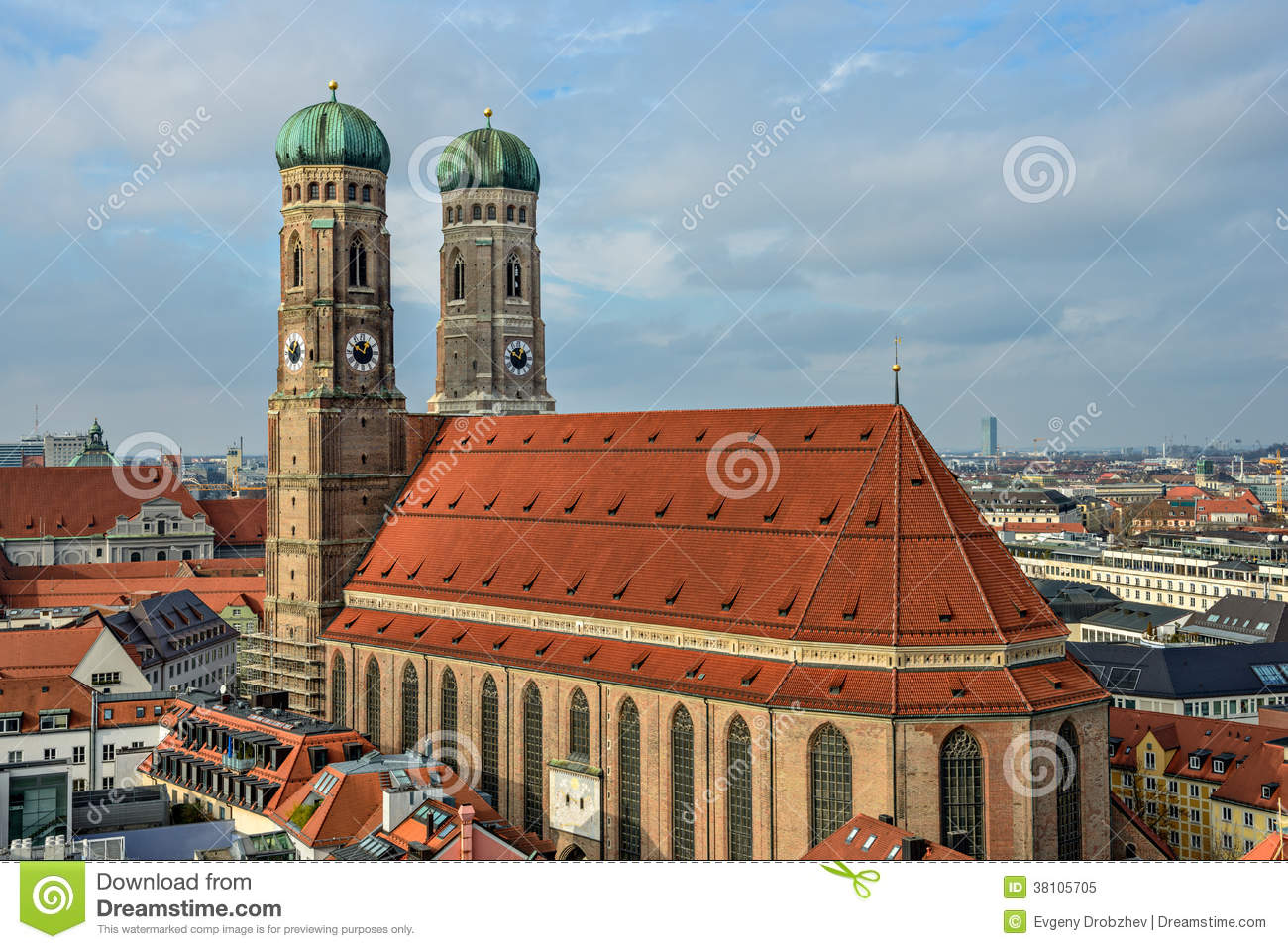 Cathedral Frauenkirche In Munich Bavaria Royalty Free