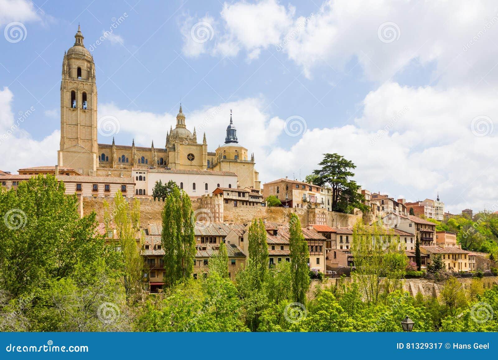 Cathedral in the historic city of Segovia, Castilla y Leon, Spain