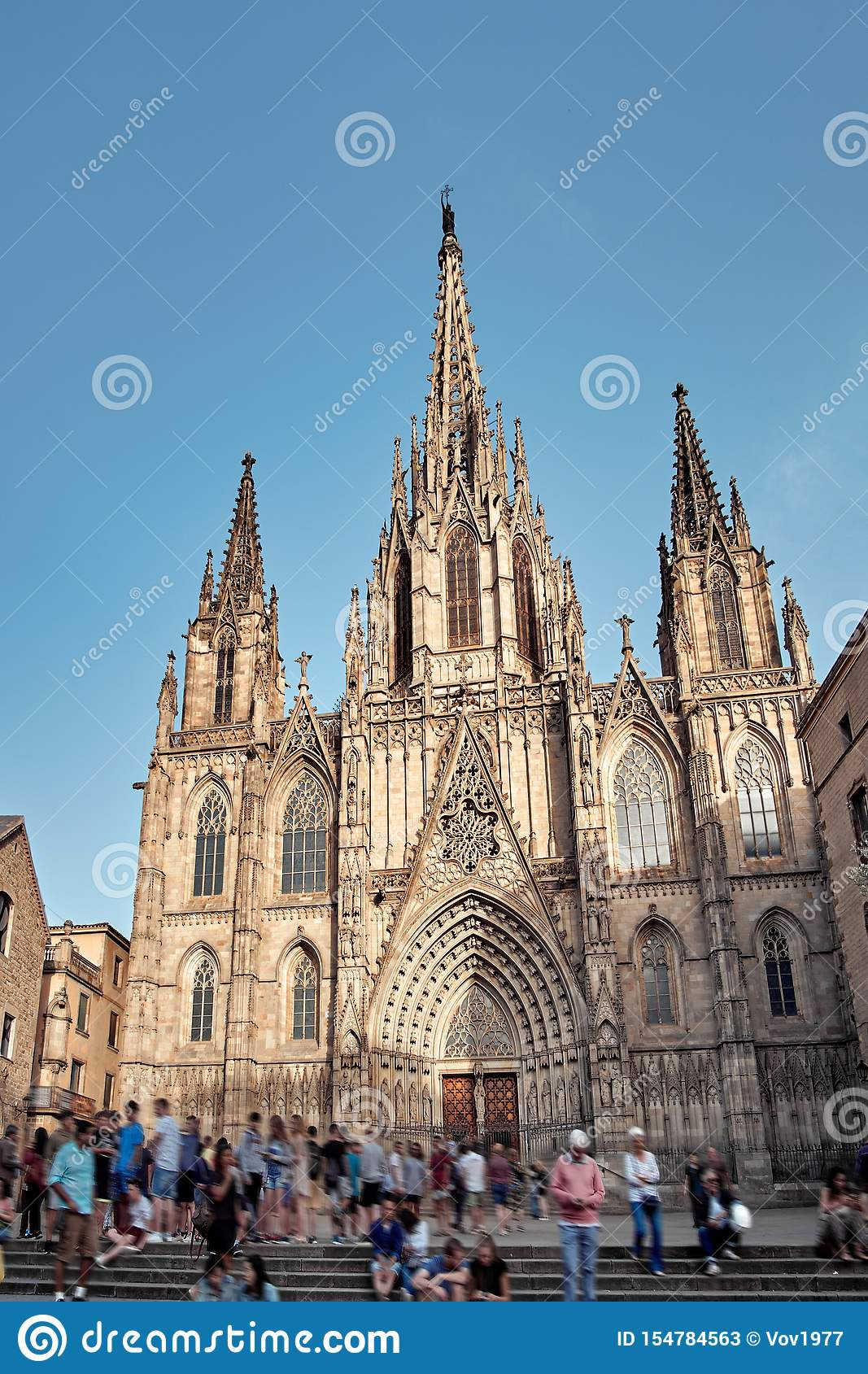 Cathedral of the Holy Cross and Saint Eulalia also known as Barcelona Cathedral, Gothic cathedral and seat of the Archbishop of