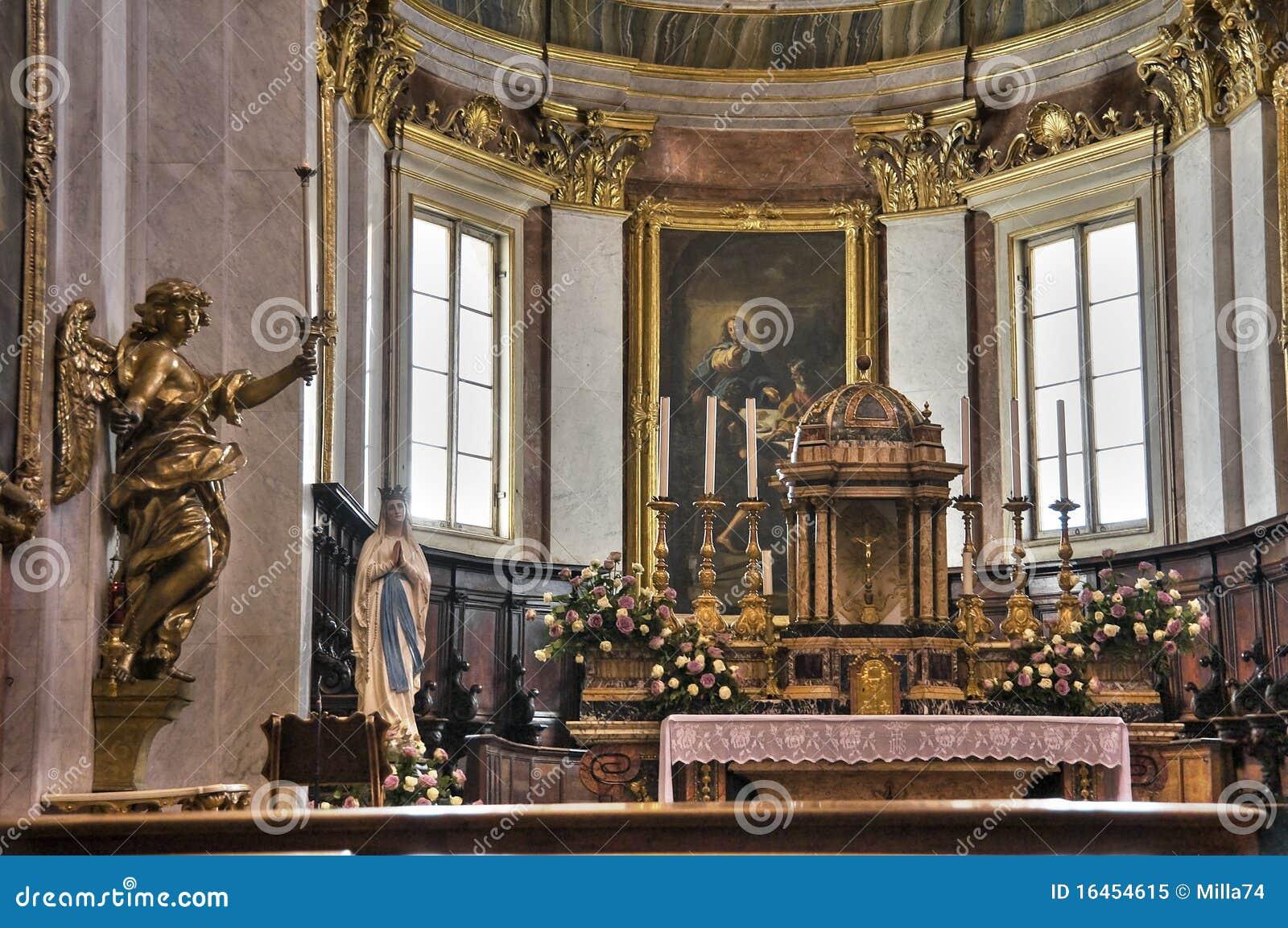 Cathedral Interior. Assisi. Umbria.