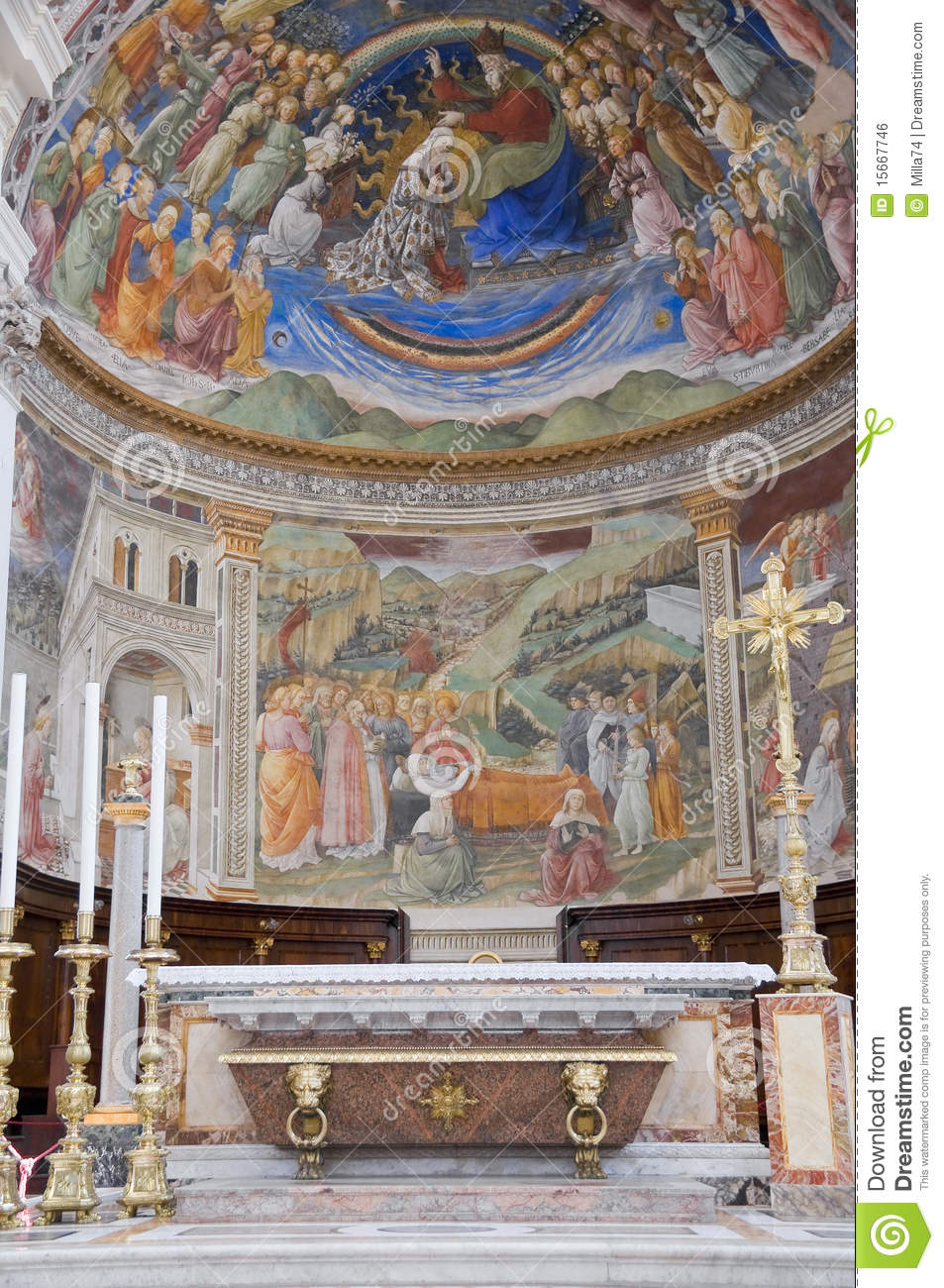 Cathedral Interior. Spoleto. Umbria.