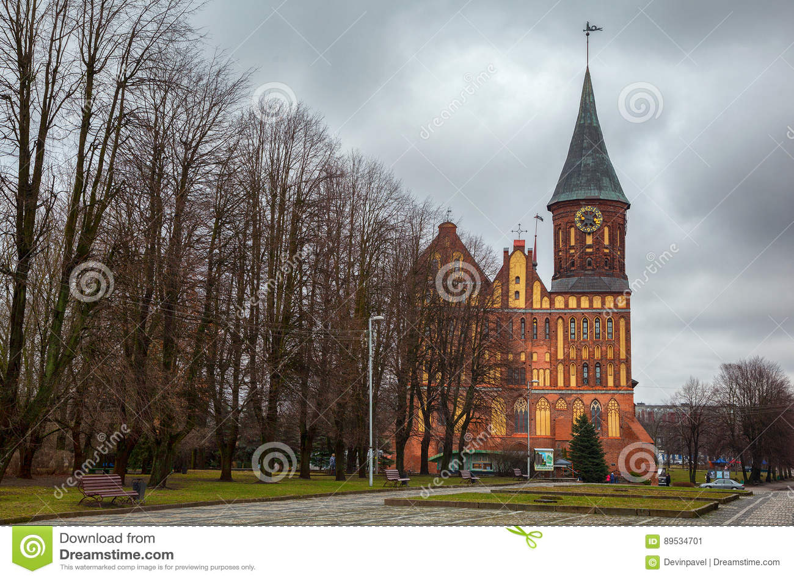 The cathedral in Kaliningrad. Kaliningrad: sightseeing