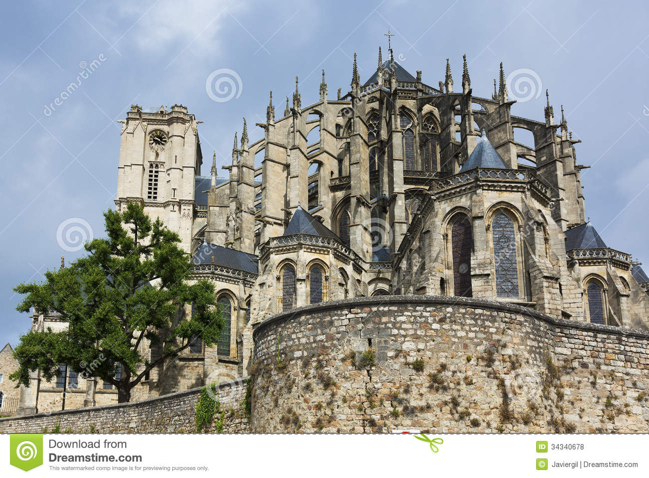 cathedral of le mans stock photo image of religion destination 34340678. Black Bedroom Furniture Sets. Home Design Ideas