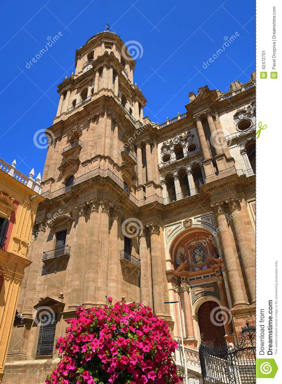 the cathedral malaga spain stock photo image 42472701. Black Bedroom Furniture Sets. Home Design Ideas