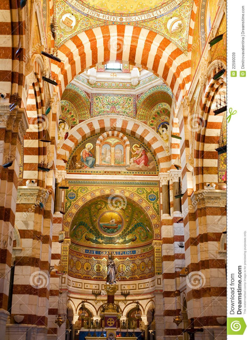 Cathedral Notre Dame Marseille Royalty Free Stock Images