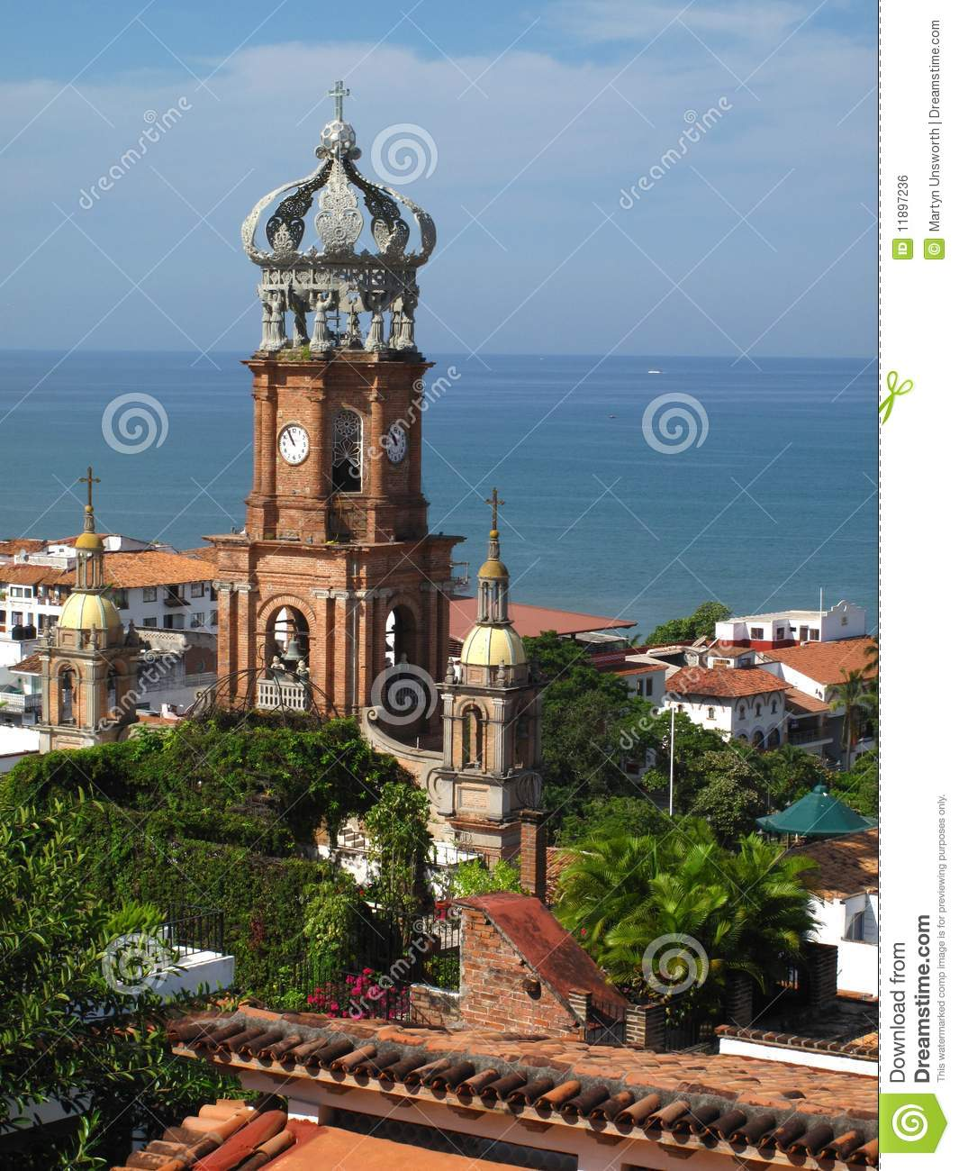 Cathedral In Puerto Vallarta Mexico Royalty Free Stock
