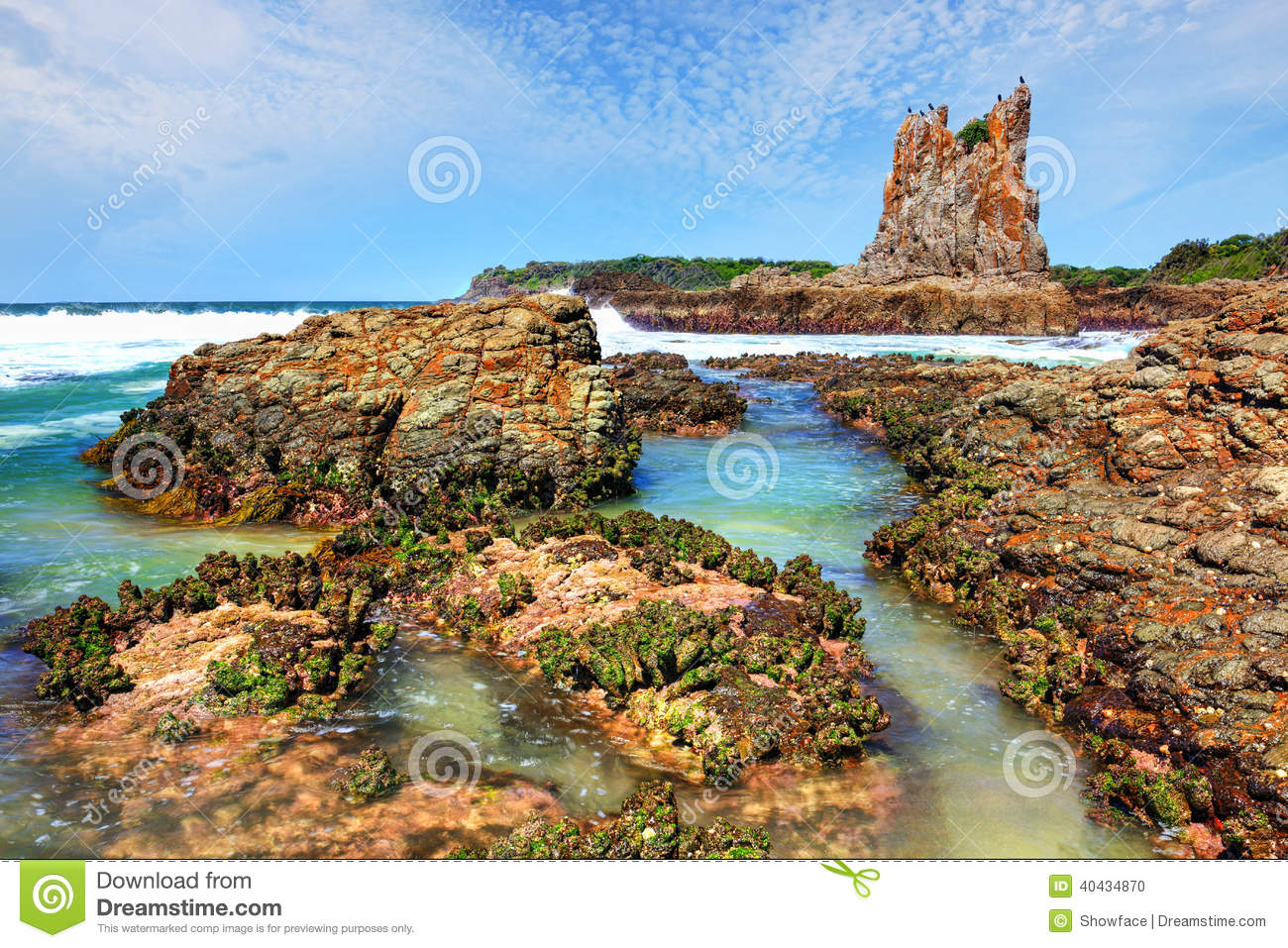 Cathedral Rocks Kiama Downs Australia Stock Photo - Image: 40434870
