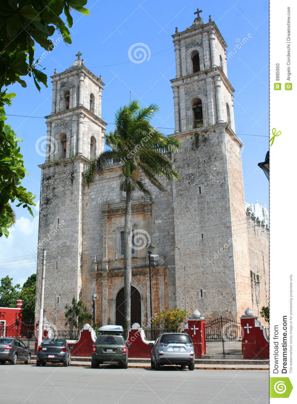 Valladolid Mexico  City pictures : Cathedral Of San Gervasio, Valladolid Mexico Stock Photo Image ...