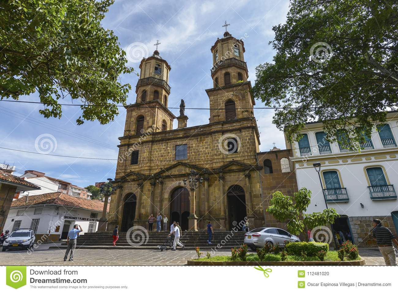 Download Cathedral Of San Gil, Colombia. Editorial Image - Image of tower, south: 112481020