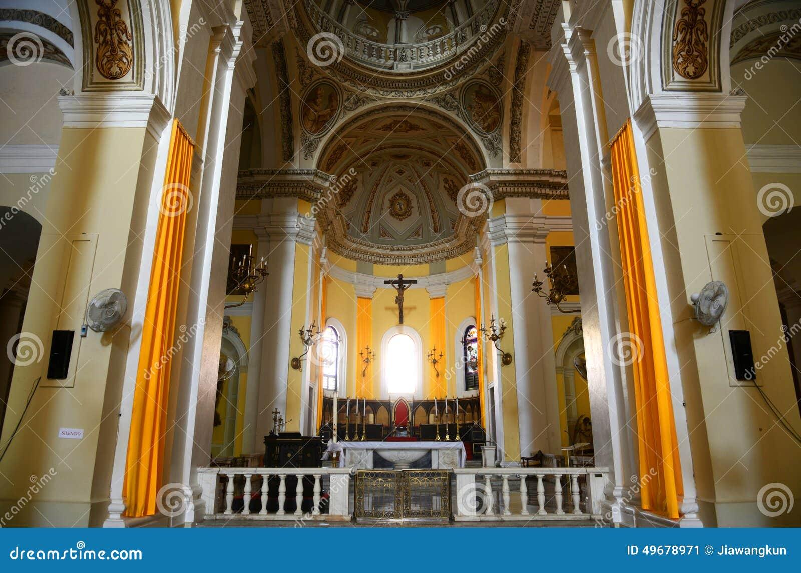 Cathedral Of San Juan Bautista, San Juan, Puerto Rico Stock Photo ...