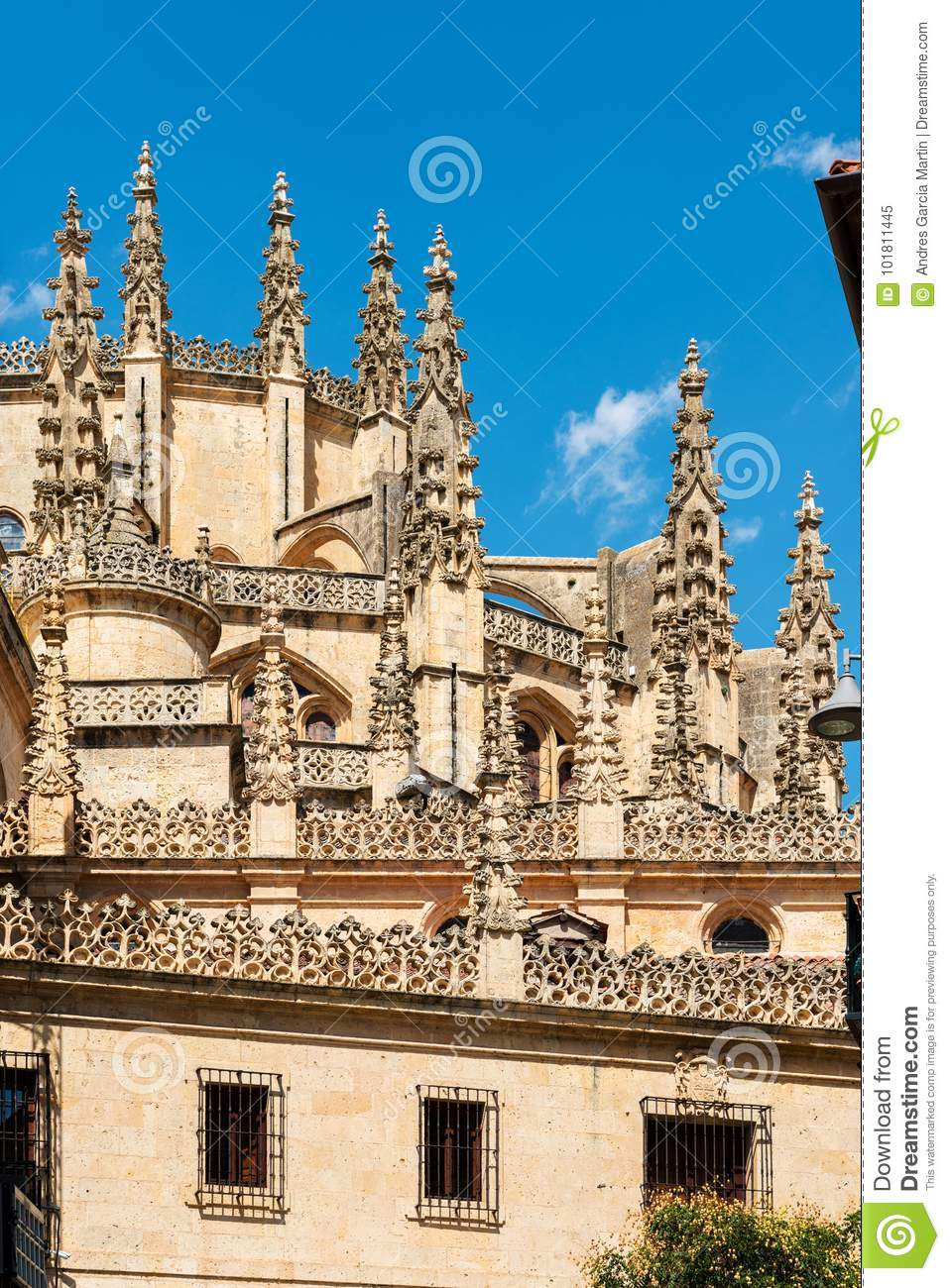 Outside Details Of The Architecture Cathedral Segovia Spain One Last Great Gothic Cathedrals In Europe Built 1522 1577