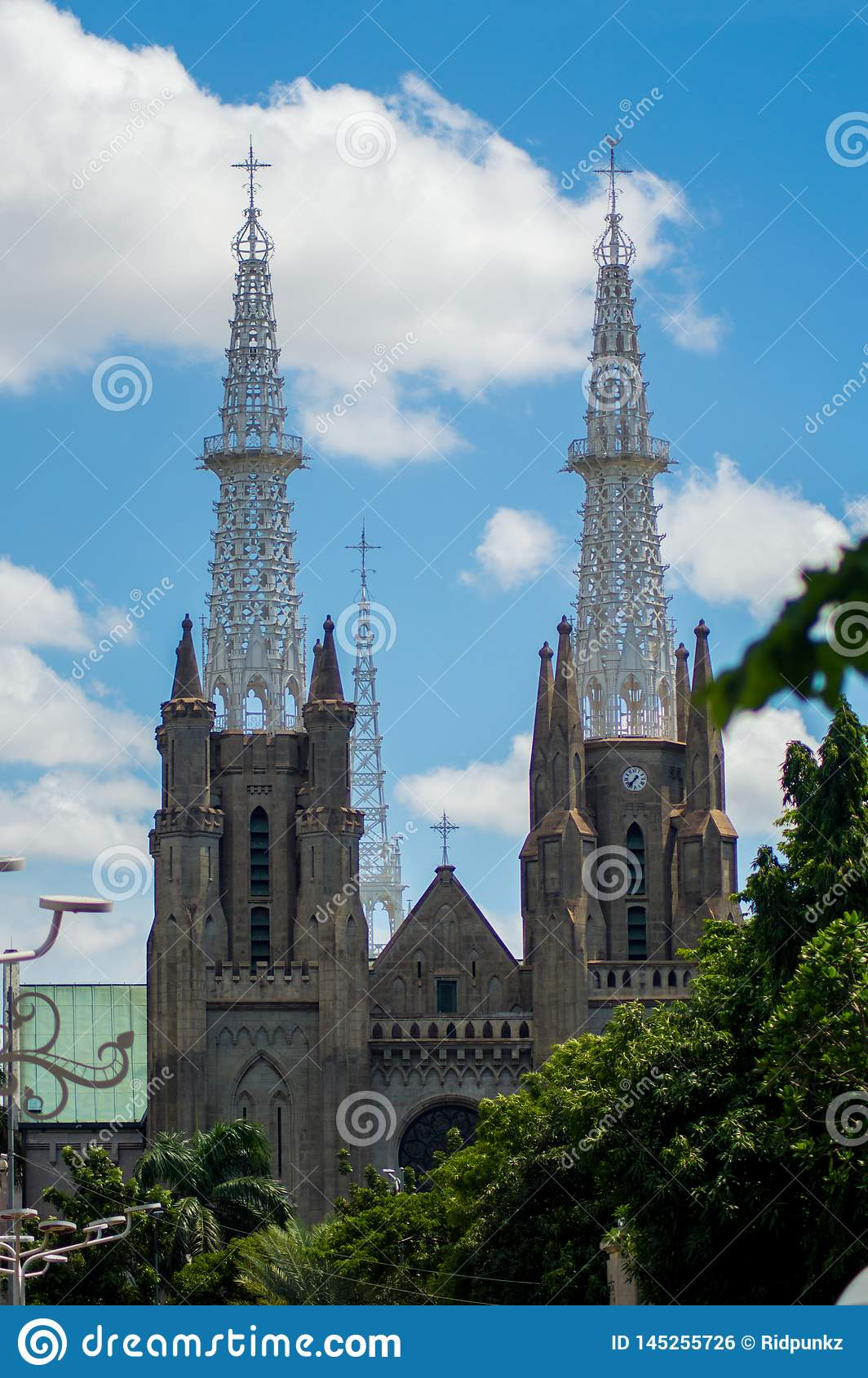 cathedral under the beautiful blue sky