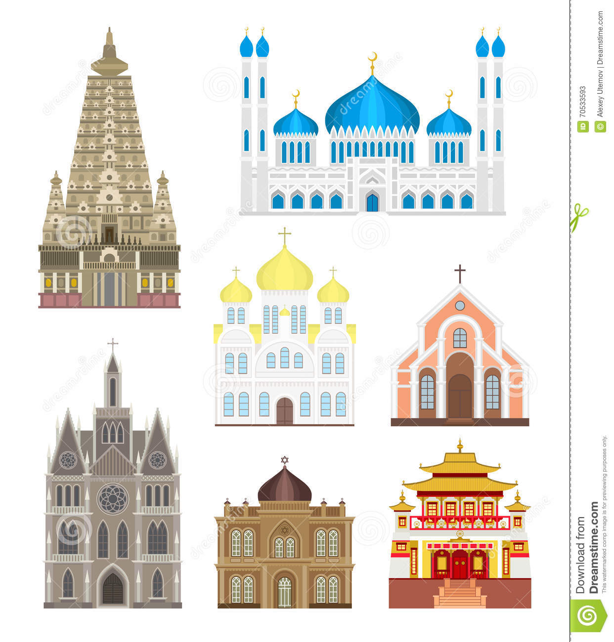 Churches and temples, their architecture