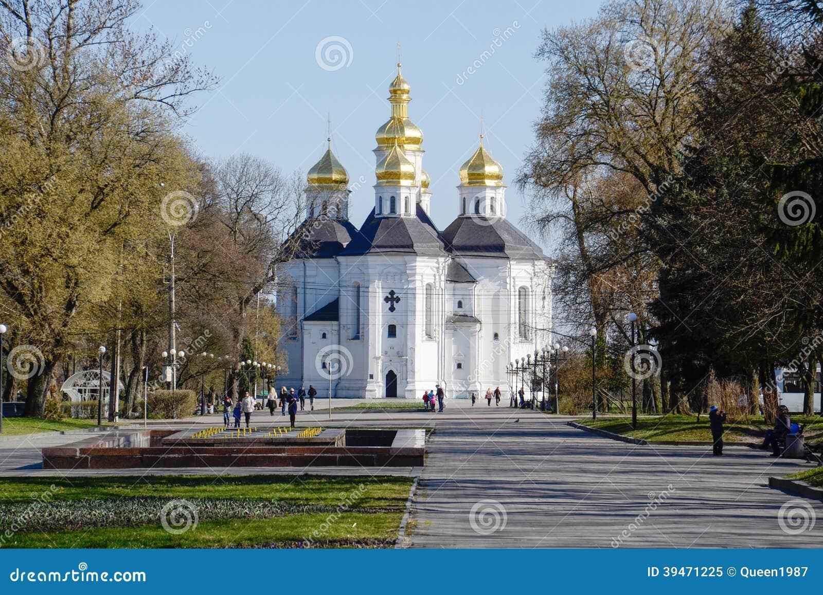 Catherine kościół w Chernigov. Ukraina.