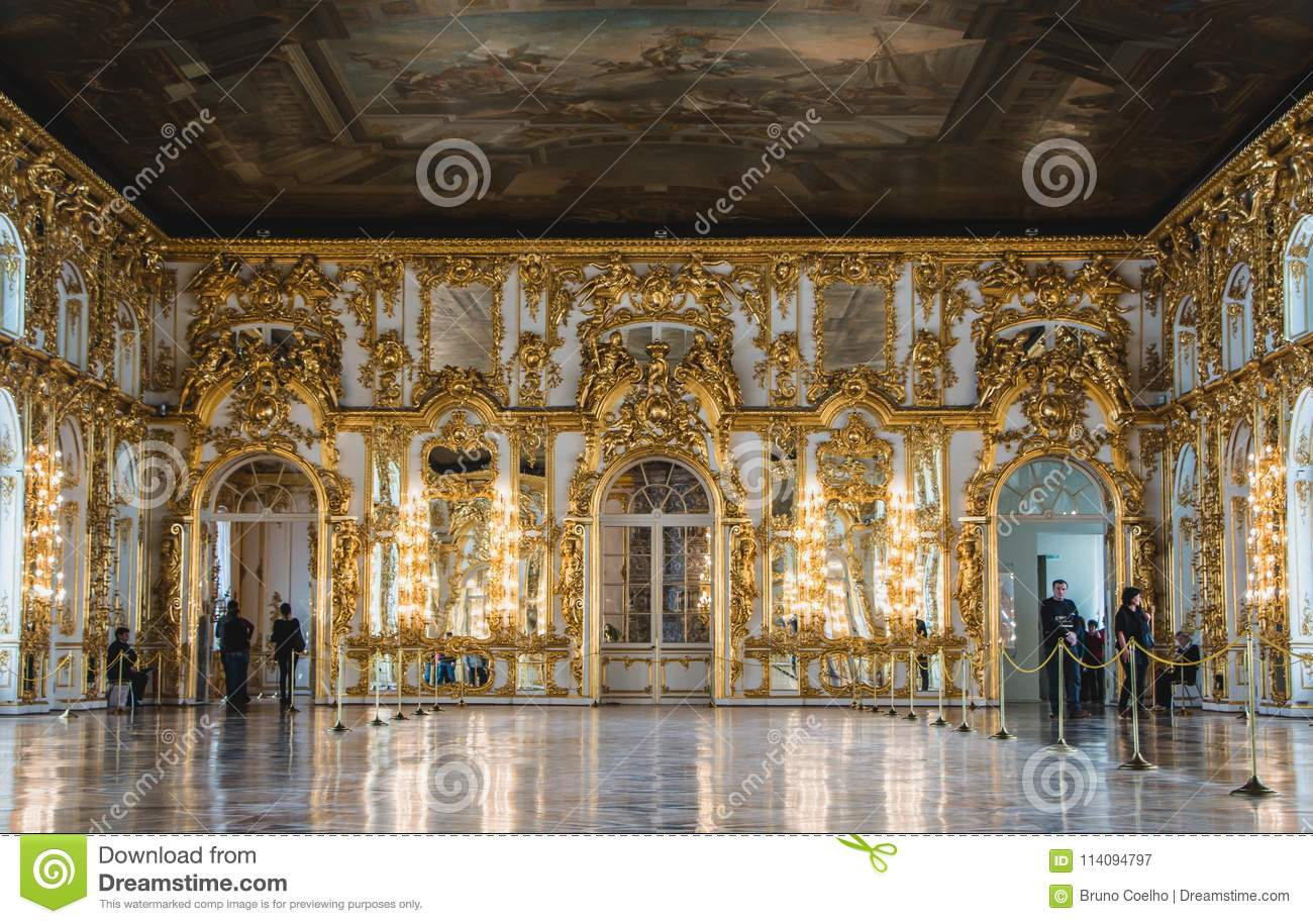 Genial Download Catherine Palace Interiors V Editorial Photography   Image Of  Golden, Construction: 114094797
