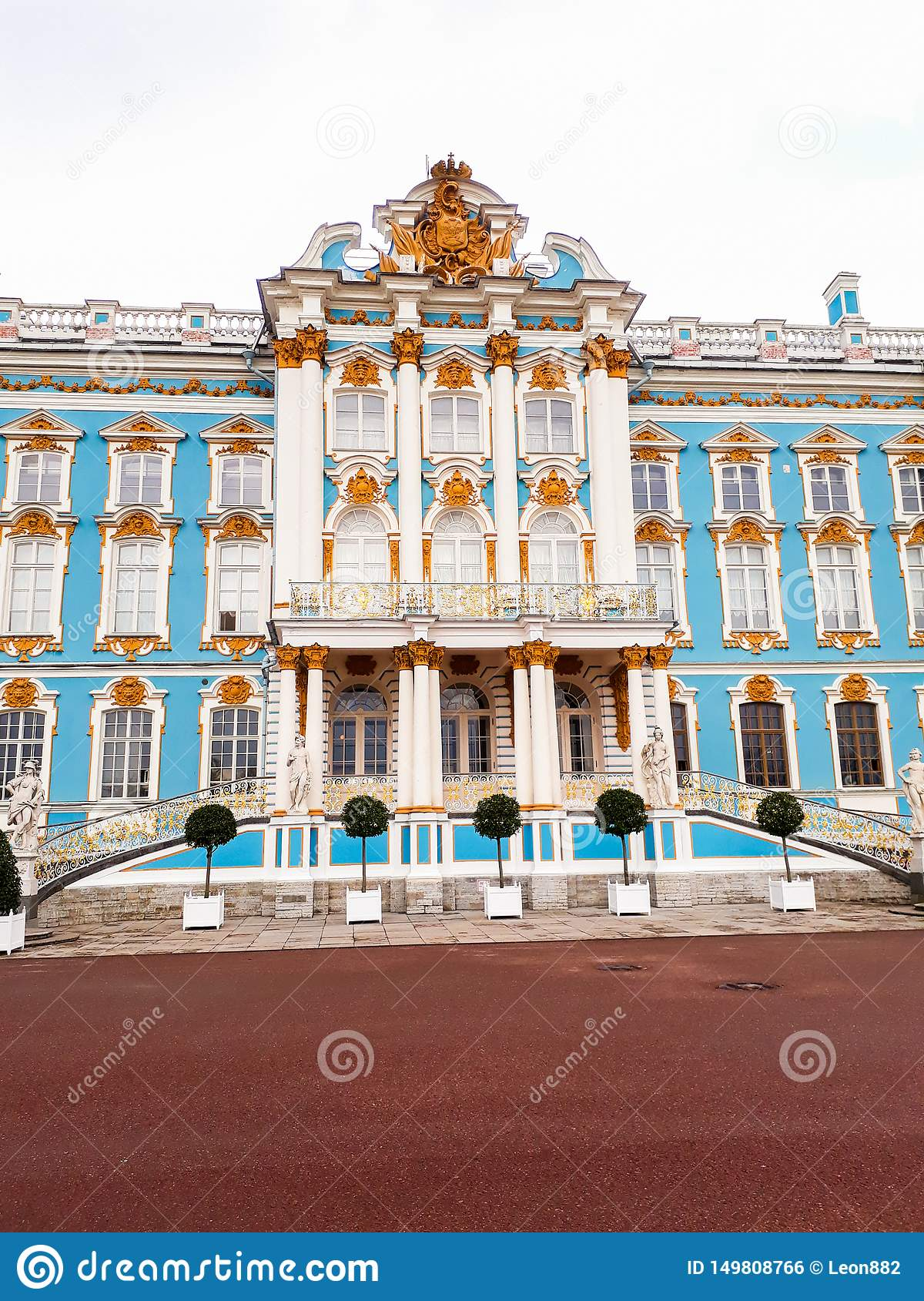 Catherine Palace In Russia StPetersburg i vår