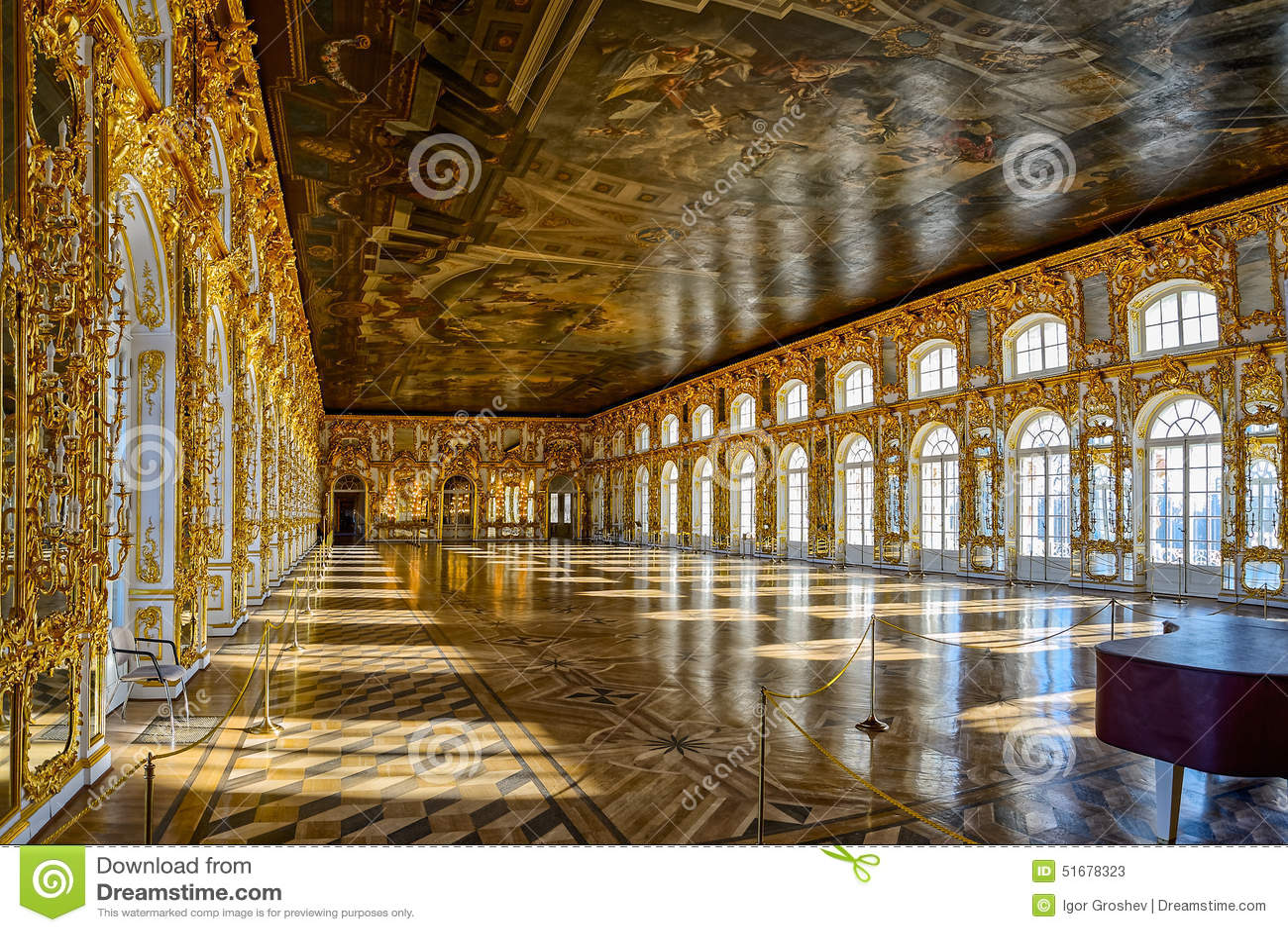 Catherine's Palace Ballroom Hall In Tsarskoe Selo (Pushkin ...