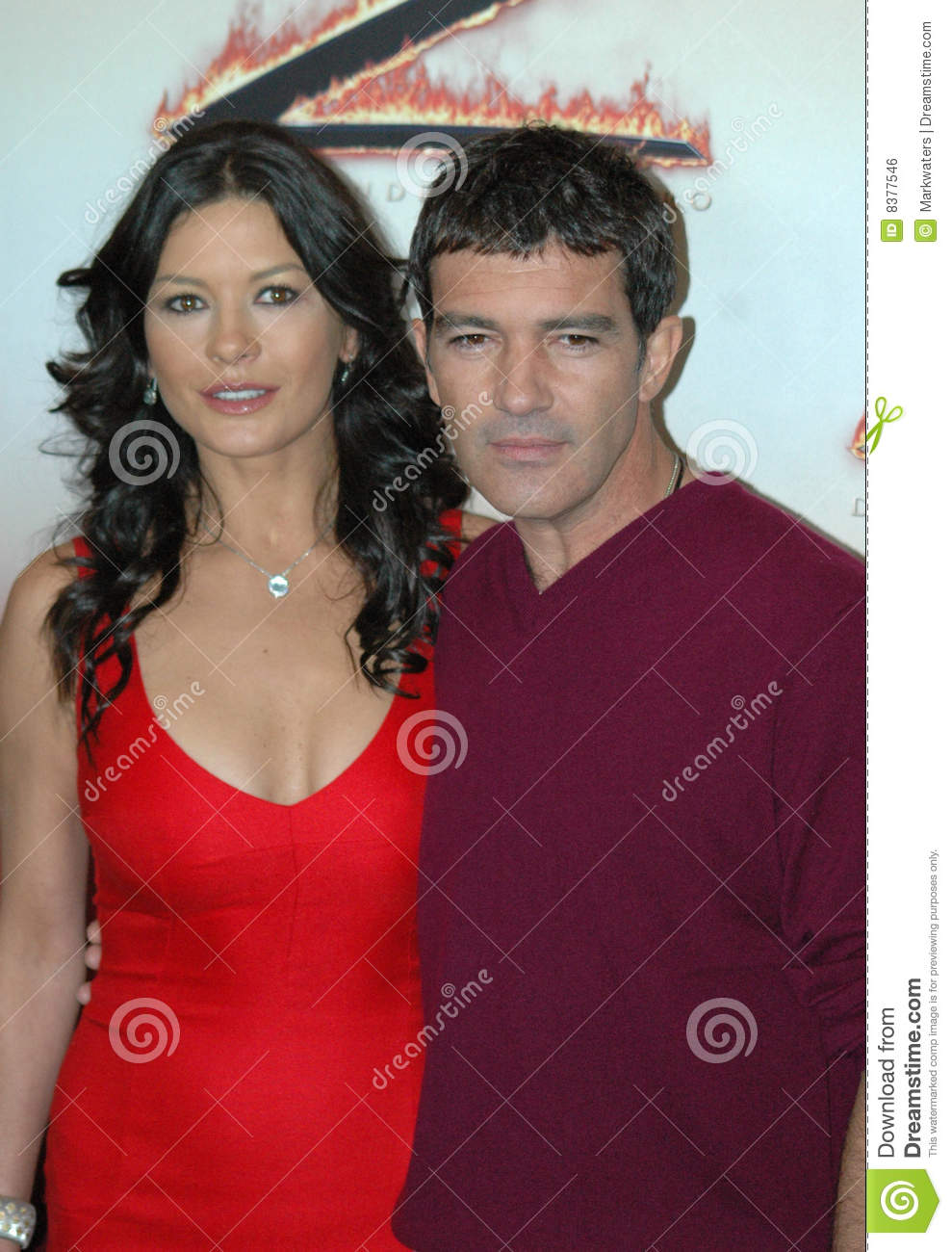 Catherine Zeta Jones Antonio Banderas Editorial Photo
