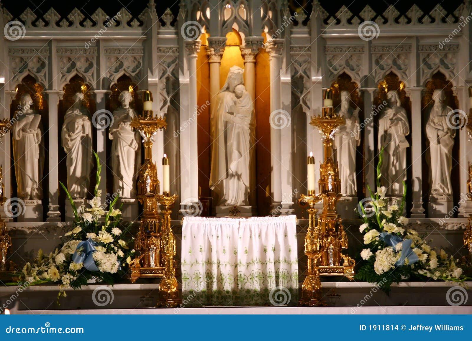 Catholic Church Altar Stock Photo. Image Of Traditional